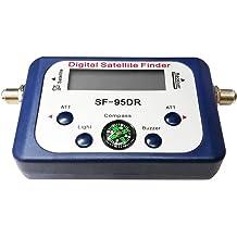 MeterMall SATLINK WS-6933 DVB-S2 Satellite Finder FTA CKU Band Satlink Digital Satellite Finder Meter US Plug