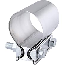 2 Heavy Duty Saddle Style U-Bolt Muffler Clamps with Zinc Coating and Multiple Uses