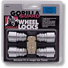Pack of 24 Gorilla Automotive 76604NBC Black 14mm x 2.00 Thread Size Chrome Finish Duplex Acorn Wheel Lock with 6-Lug Nut,