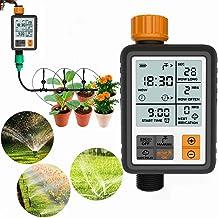 Jeteven Garden Water Timer LCD Waterproof Automatic Irrigation Watering Timer Electronic Garden Irrigation Controller