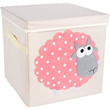 3 Sprouts Organizer Container Cube Storage Box for Kids /& Toddlers White Owl