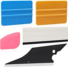Rubber Water Blade-7 in 1 Scraper CARTINTS Car Window Tint Application Tools Glass Window Film Installation Tool Vinyl Wrap Kit with Felt Squeegee