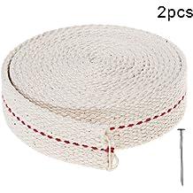 3//4 Inch Stitch Oil Lamp Wick 1//2 Inch Oil Lantern Wick 7//8 Inch Oil Lamp Wicks Burner with Black Stitch 6.5 Feet per Roll 3 Rolls Flat Cotton Wick