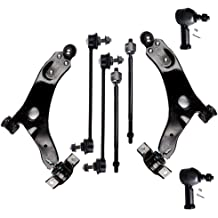 SCITOO 12pcs Suspension Kit 2 Front Lower Control Arm Ball Joint 2 Front Inner 2 Front Outer Tie Rod End Compatible fit 1995-1999 Mitsubishi Eclipse/ 1994-1998 Mitsubishi Galant