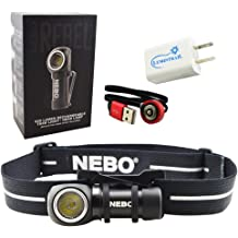 Nebo Inspector RC penlight flashlight 360 Lumen Rechargeable /& Waterproof EDC pocket Bundle with EdisonBright USB Wall Adapter