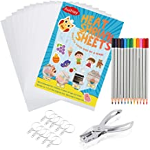 Auihiay 50 Pieces Blank Shrink Plastic Sheets Shrink Films Papers for Kids Creative Craft 14.5 x 20cm 5.7 x 7.9inch