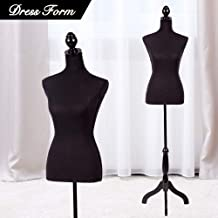 for Pants Dress Clothing Display White UMDF05WT Adjustable Height SONGMICS Female Mannequin Torso Body Dress Form with Tripod Stand Small 2-4 Size Non-Straight Pinnable 33 25 34