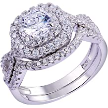3.5 Ct Round Cut Diamonds Simulated Wedding Women/'s Silver Ring Set Size 5-10