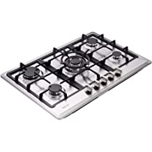 NG//LPG Convertible Stainless Steel Gas Stove Top with Thermocouple Protection thermomate Gas Cooktop 30 Inch Recessed Gas Rangetop with 5 High Efficiency Burners 120V AC