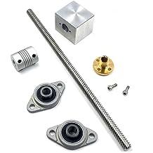 Equipment T8 8mm Lead Screw Set Lead Screw 350mm Pillow Bearing Block /& Horizontal Bearing Block for 3D Printer CNC Parts Coupler Copper Nut