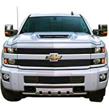 Mountains2Metal Bumper Grille Insert LTZ Edition Powder Coated Black Stainless Steel Compatible with 2015-2019 Silverado 2500 3500 HD M2M #400-160-1
