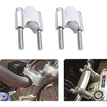 ApplianPar Pack of 2 Universal 1 1//8 22mm /& 28mm 7//8 Motorcycle Handlebar Riser Mount Clamp Fat Bar Taper for Dirt Bike Motocross