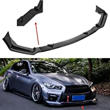 Auto Carbon Fiber Surface Car Front Bumper Fins Spoiler Refit Canards Splitter