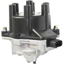 Proheader PE322B Chevy HEI V8 Distributor with Adjustable Vacuum Advance 50k Black