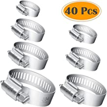 Bulk Pack of 50 Clamps BRUFER 100217 Galvanized Steel Hose Clamps 2-inch for Pipe Worm Gear Plumbing Automotive
