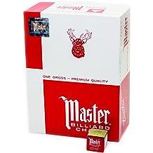 1PC Master 4 color Pool Billiard Cue Q Stick Chalk Doz Box billiard accessories