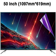 AOHMG TV Screen Protector 50 inch Anti-Blue Light Anti Glare Eye Protection Screen Filter for LCD OLED /& QLED 4K HDTV,A LED