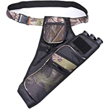 Archery Hunting Arrow Quiver Holder Bow Storage Bag Pouch Belt Strap Camouflage