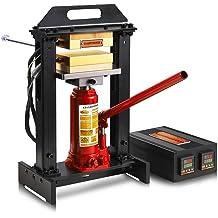 Dual Element Heating Plates 110V 2.4X4.7 6X12CM YaeTek Heat Press Machine Hand Crank Duel Heated Plates Manual Heat Transfer