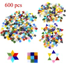 160g Assorted Color Triangle Glass Mosaic Tiles Vitreous for Art Crafts