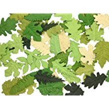RATREE SHOP Thai Handmade 100 Pcs Olive Green Skeleton Leaves Rubber Tree Natural Scrapbook Craft CARD Wedding