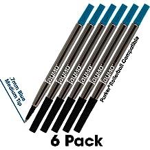 Parker Quink Rollerball Pen Refill Pack of 3 Black Medium