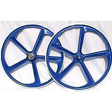"""Wheels Matte Silver R4 29/"""" BMX Cruiser 5-Spoke Alloy Rims Wheel Set"""