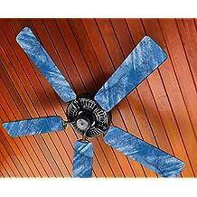 Blue Chevron Fancy Blade Ceiling Fan Accessories Blade Cover Decoration