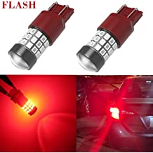 iBrightstar Newest 9-30V Extremely Bright 7440 7441 7443 992 LED Bulbs replacement for Tail Brake Lights Brilliant Red