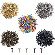 Hapy Shop Paper Fasteners,Medium 3//4-Inch Brass Plated Scrapbooking Brads Round Metal Brads for Crafts Making DIY,300 Pack