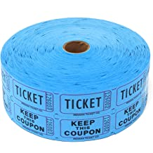 4 Assorted Colors 4 Rolls of 2000 Tickets 8,000 Total Blank Raffle Tickets