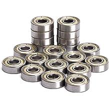 8x22x7mm SI-BU ABEC 5 Precision Skate Ball Bearings Rubber Seals 8