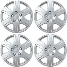 """Replica for Civic 4 Pack Hubcaps for Car Accessories Wheel Covers Snap Clip-On Auto Tire Rim Replacement for 15 inch Wheels 15/"""" Hub Caps BDK Wheel Guards"""