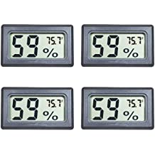 Mini Hygrometer 8 Pcs Humidity Meter Digital Fahrenheit Temperature Humidity Hygrometer LCD Display Indoor Thermometer and Humidity Gauge for Humidors Cellar Etc Greenhouse Garden Closet
