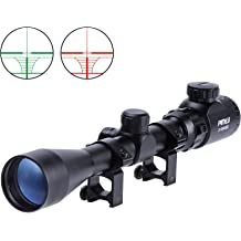 new 6-24x50 AOE SCOPE RifleScope Red+Green Cross-hairs with free mount rings