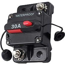 Marine Trolling Motors Boat ATV Manual Power Fuse Rest Waterproof 12V- 48V DC 40A ZOOKOTO 40 Amp Circuit Breaker