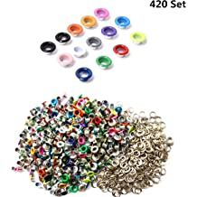RuiLing 120 Sets 6mm Black Metal Eyelets Garments Shoes Supplies Sewing Crafts Accessories 1//4 Inch Grommet Eyelets