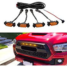 Seven Sparta 4 PCS Led White Lights with Fuse and Instruction for 2014-2019 Toyota 4Runner TRD Pro Grille Black Shell Limited Including SR5 TRO Pro TRD off-road