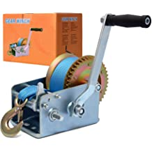 OPENROAD 1200 Hand Winch Boat Trailer Winch,Hand Trailer Winch with 10m Steel Cable Handle Crank Manual Winch for Pulling ATV Winch