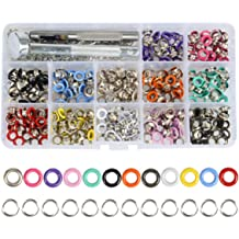 """4 Colors New 100pc 3//16/"""" Metal Eyelets Shoes Clothes Crafts"""