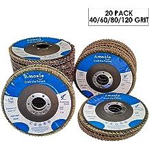 20 Pack 4.5x7//8 Jumbo Zirc Flap Disc Grinding Wheel 80 Grit