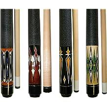 "Billiard House Cue Stick Lot of 8-58/"" 1 Piece Hardwood Maple Bar Pool"