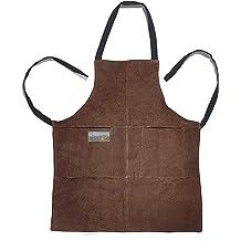 InterestPrint Home Kitchen Apron for Women Men with Pockets Saber Toothed Tiger Adjustable Bib Apron for Cooking Baking Gardening Large Size