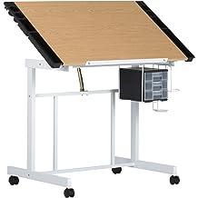 Rustic Oak Studio Designs 36 X 24-Inch Vintage Drafting Table