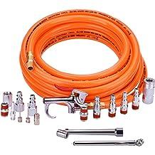 Primefit Air Compressor Inflator Accessory Kit 17 Piece Gauge Needle Nozzle Tool