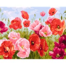 16 W x 20 L Drawing Paintwork with Paint Brushes Canvas Oil Painting Kit for Kids /& Adults Paint by Numbers Giraffe Acrylic Pigment