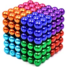 MYYAGEW 5MM 512 Pieces 8 Color Magnetic Fidget Gadget Toys Magnetic Toy Sculpture Building Blocks Cube Gift for Office Desk Toys for Adults