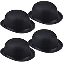 Funny Party Hats Black Derby Deluxe Costume Hat