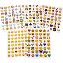 KISEER Cute Emoji Stickers 1200 Pcs Popular Emoji Face Scrapbooking Stickers for Books 25 Sheets Notes Photo Album or Laptop