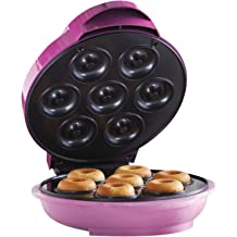 Donut Maker Machine Upgrade-Commercial Electric Doughnut Machine with 15 Holes Pan,Small//Mini Non-Stick Donut Backer Machine for Supermarket,Bakery,Snack Bar Stainless Steel Body,1650W 220V.